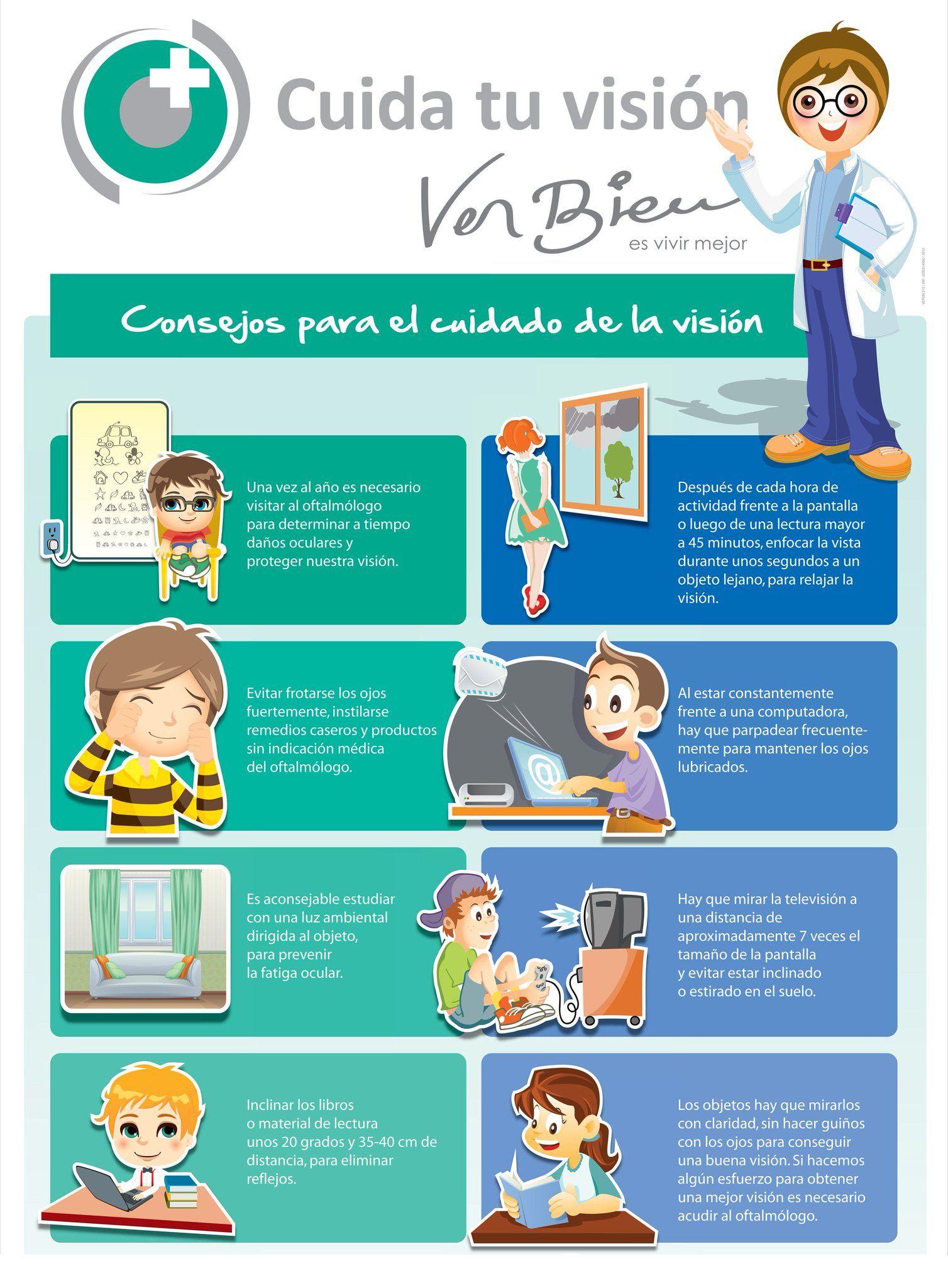 a91a29a84b #Infografía: 8 consejos para el cuidado de la visión en los niños  #OjosSanos #VisiónSana #Niños
