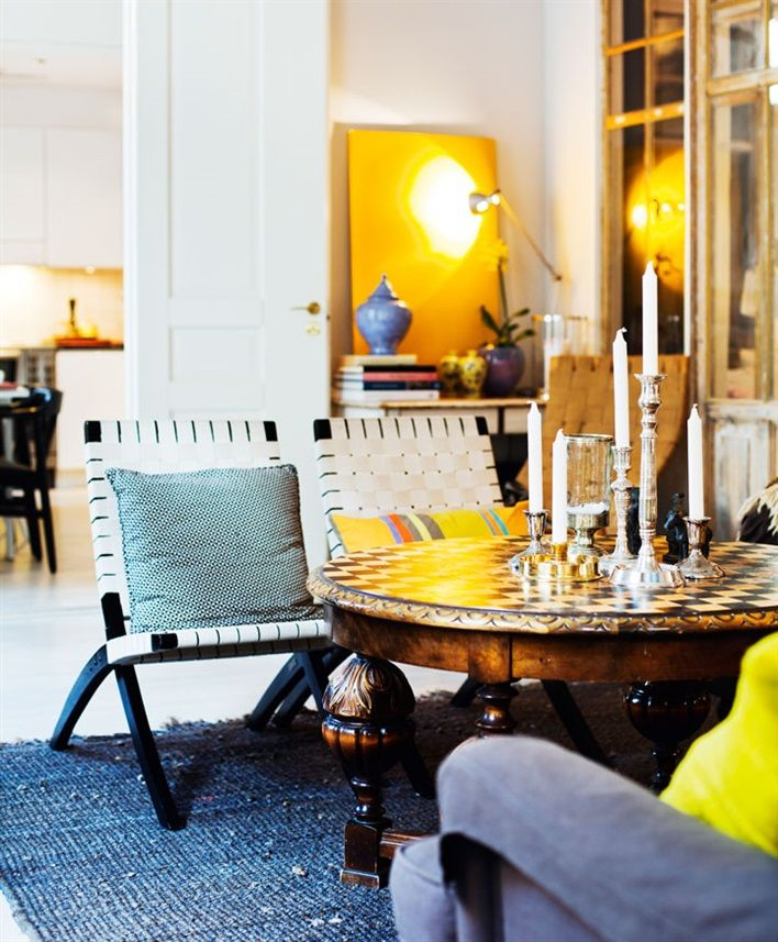 Yellow accents home interiors decor Yellow accents