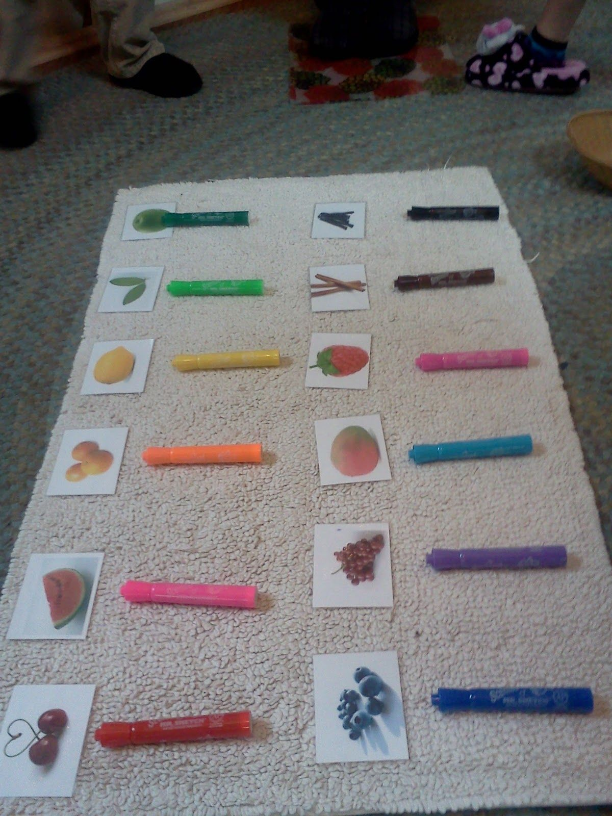 Montessori Design Sense Of Smell Mr Sketch Marker Work
