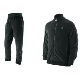 Nike Air Jordan Men`s Velour Tracksuit Pants Jacket Set