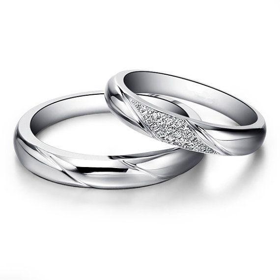 14kplatinumdiamondengagementringcouplering - Platinum Wedding Rings For Her
