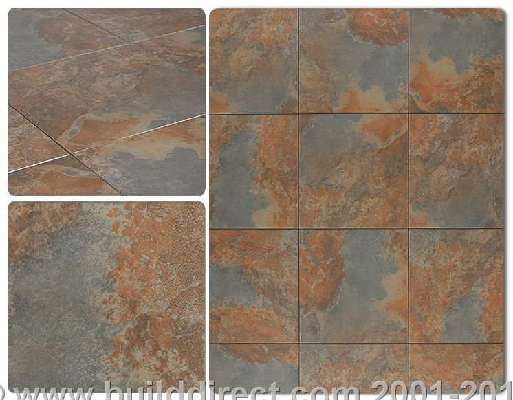 Builddirect Porcelain Tile Tulsa Series Rust