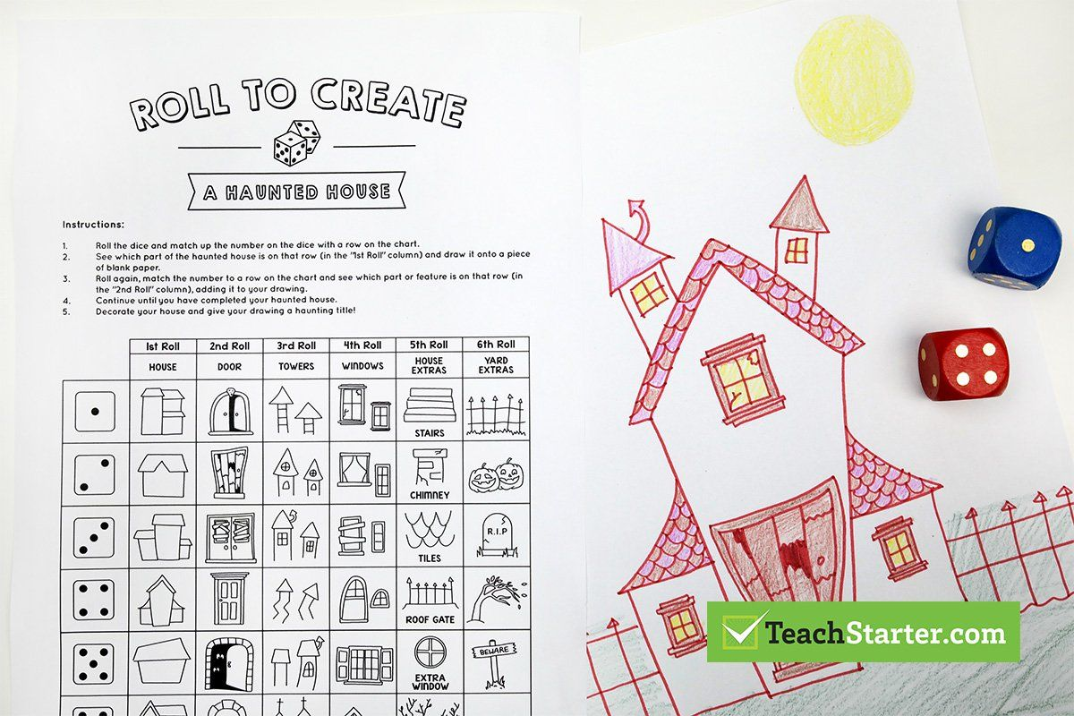Ridiculously Fun Roll A Story Printable Halloween