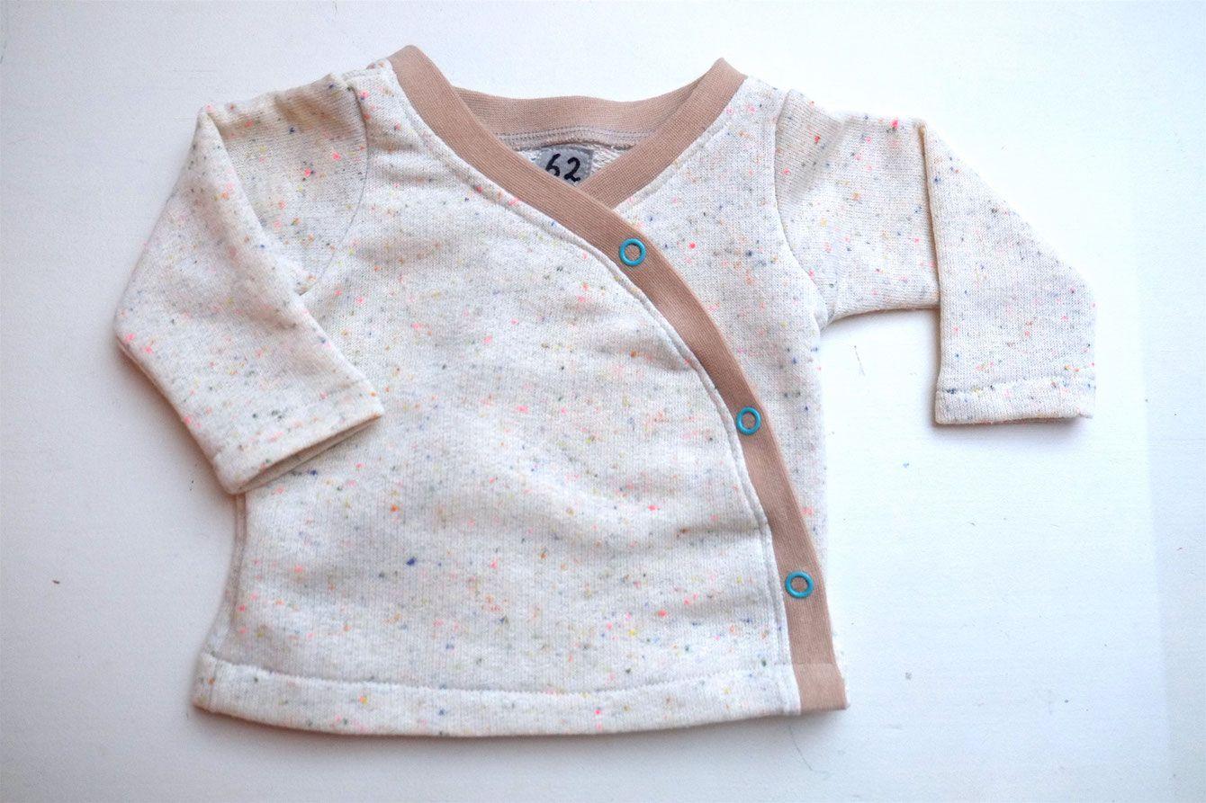 Lybstes Nähanleitung: Baby Wickeljacke selber nähen, Schnittmuster erstellen #babypullover