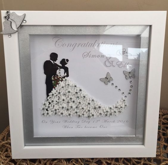Bride And Groom Mr And Mrs Anniversary Personalised Framed Keepsake Gift Ebay Wedding Frames Deep Box Frames Box Frame Art