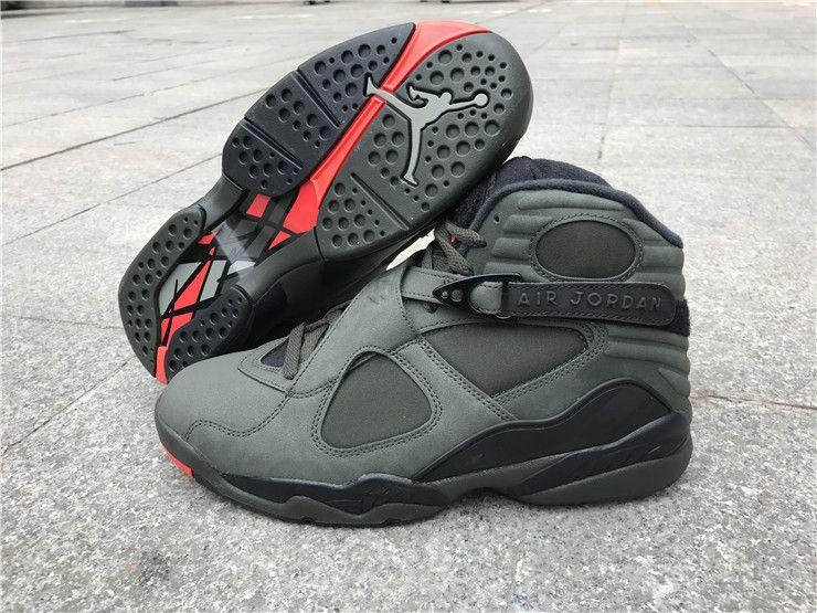 03f37cc2176a9 Nike Air Jordan 8 Retro Basketball Shoes Take Flight Grey on  www.offwhiteonline.com