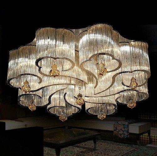 Luxury Bright Crystal Chandeliers Modern Crystal Ceiling Lamps