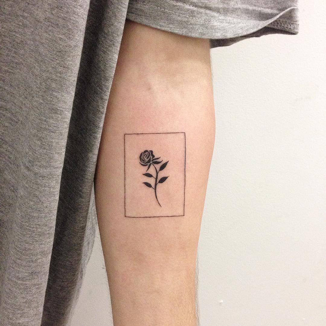 8157d0b16 Rectangle with rose (really like) Tattoos, Triangle, Tat, Tattoo, Tattooed