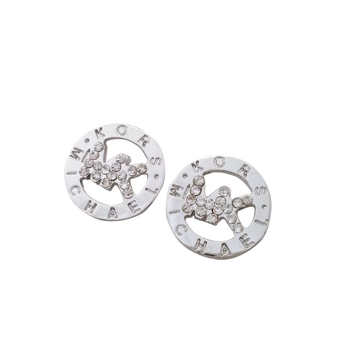 Michael Kors Slice Logo Silver Earrings Michaelkor is on clearance sale,  the world lowest price. --The best Christmas gift