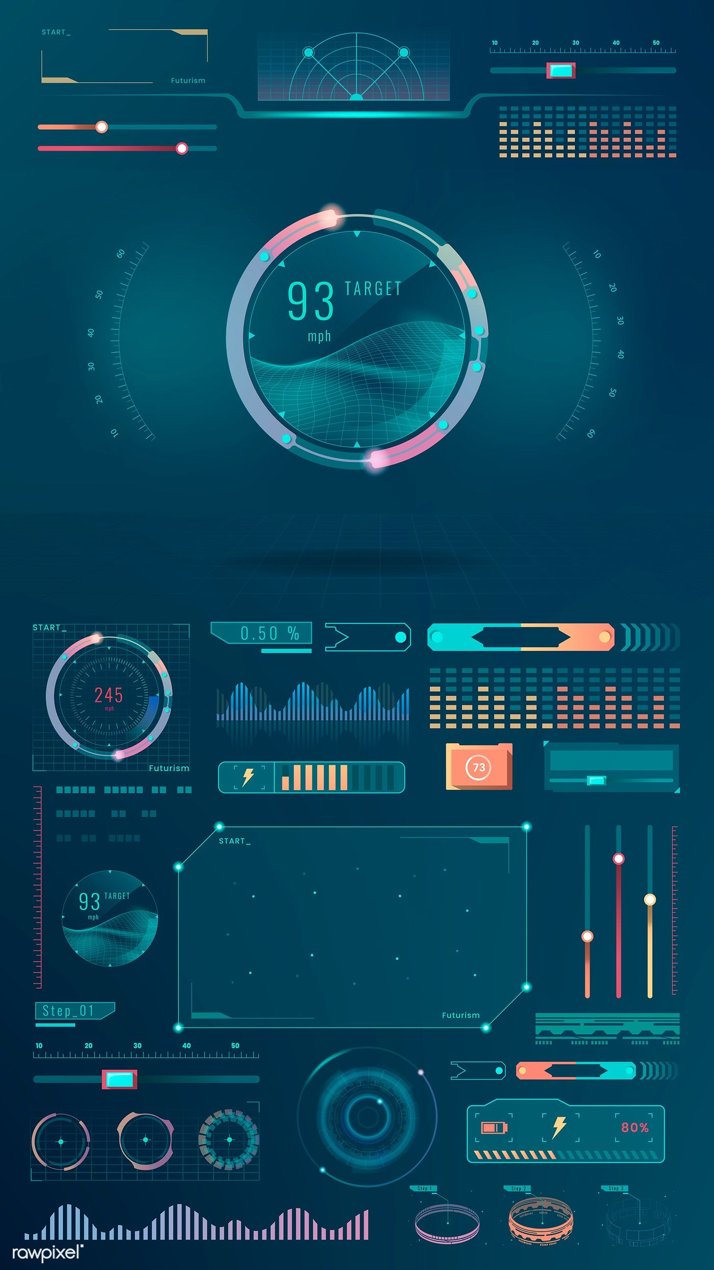 Download premium vector of Velocity technology interface template design #interfacedesign