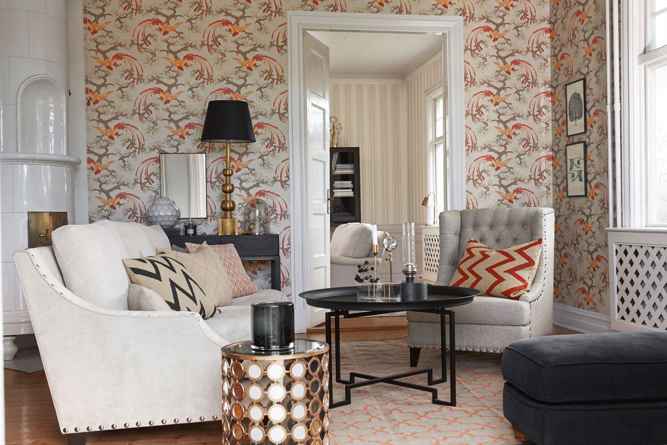 Bruk denne tapeten på alle veggene, og få et delikat inntrykk. Graceful Living design 6601. www.borge.no