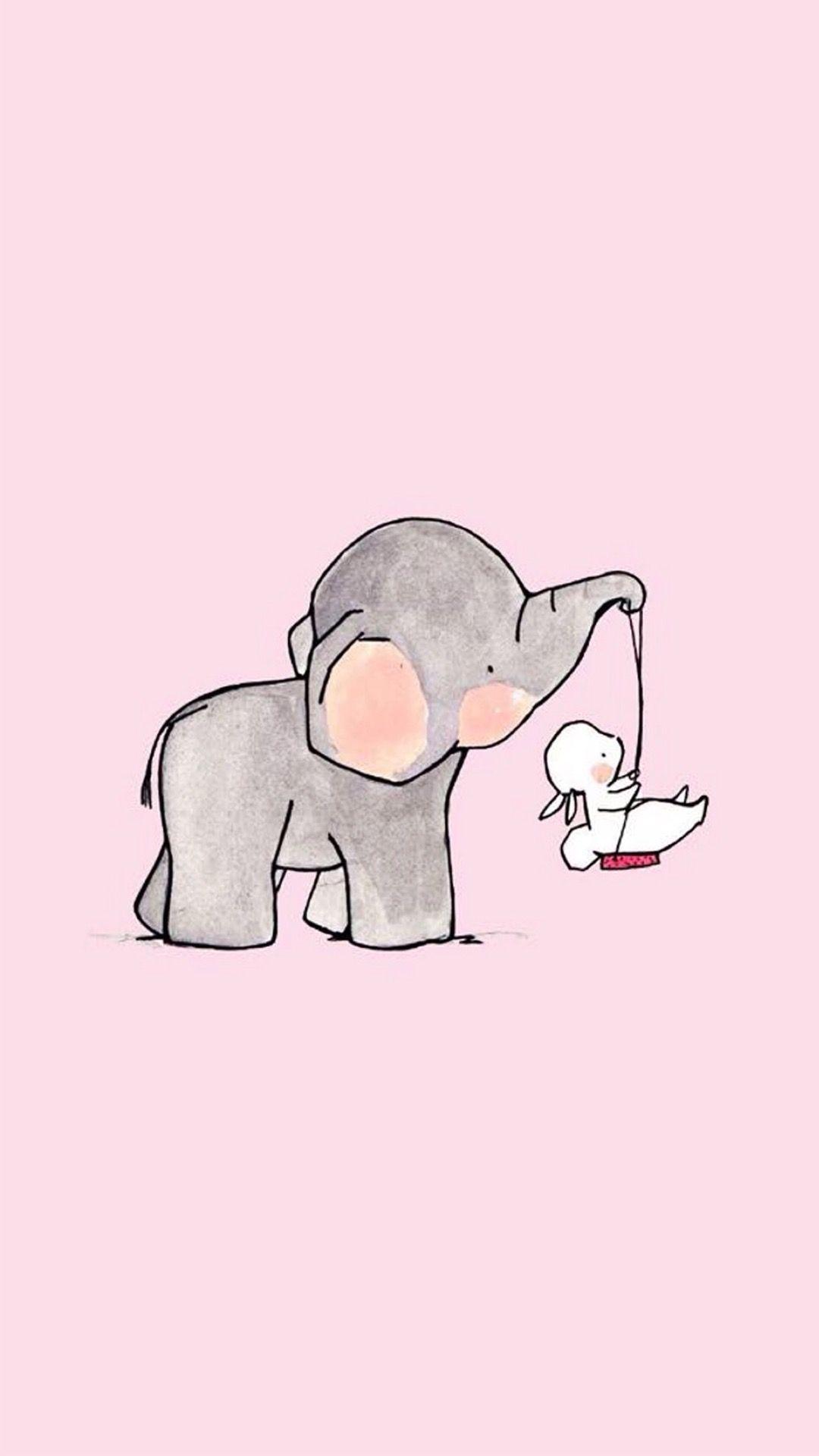 Baby Elephant Background Image Baby Elephant Background Image Wallpaper In 2020 Cute Elephant Drawing Elephant Drawing Bunny Wallpaper