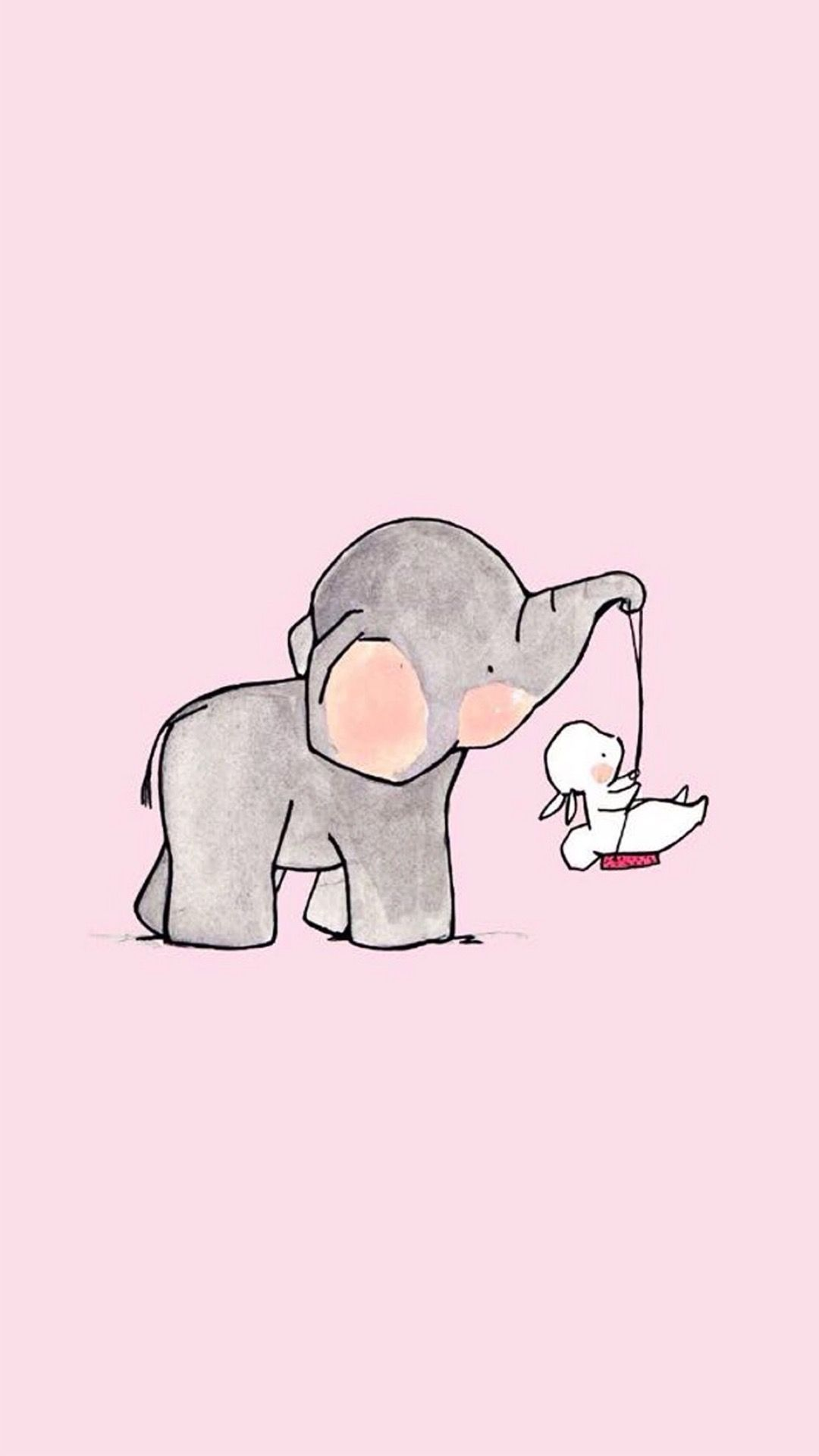Baby Elephant Background : elephant, background, Elephant, Background, Image, Drawing,, Cartoon,, Drawing