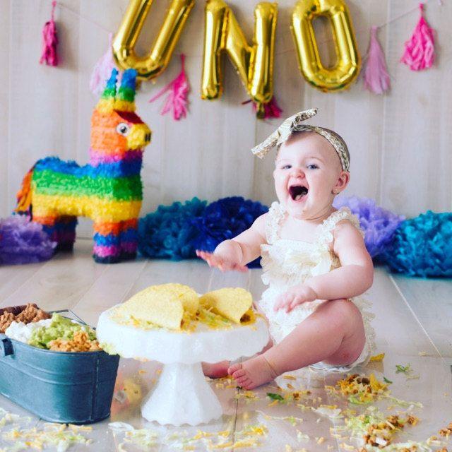 Uno Birthday, Fiesta First Birthday, Uno Balloons, Fiesta