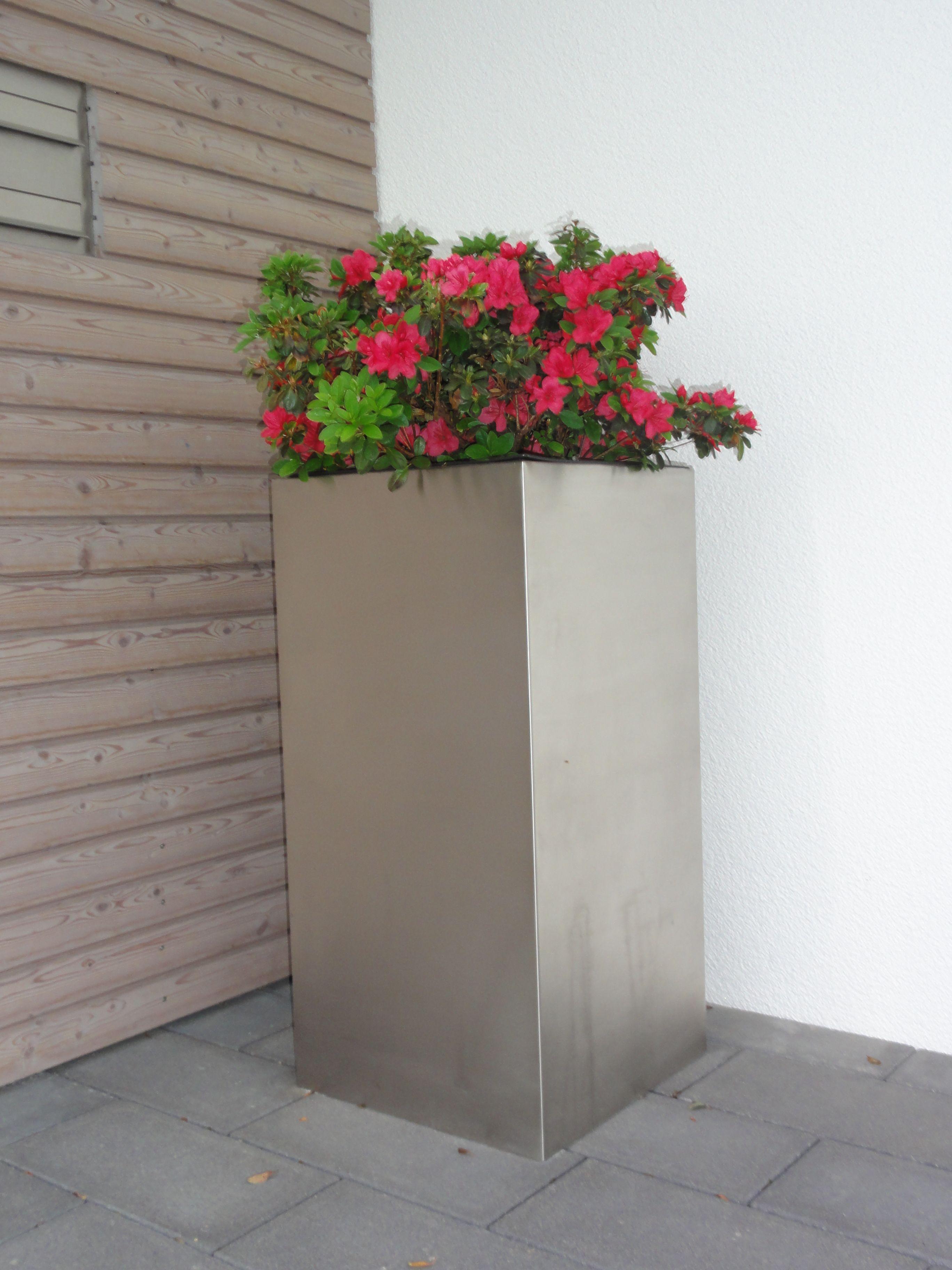 edelstahl pflanzkübel torre von decoras. weitere edelstahl modelle, Gartengerate ideen