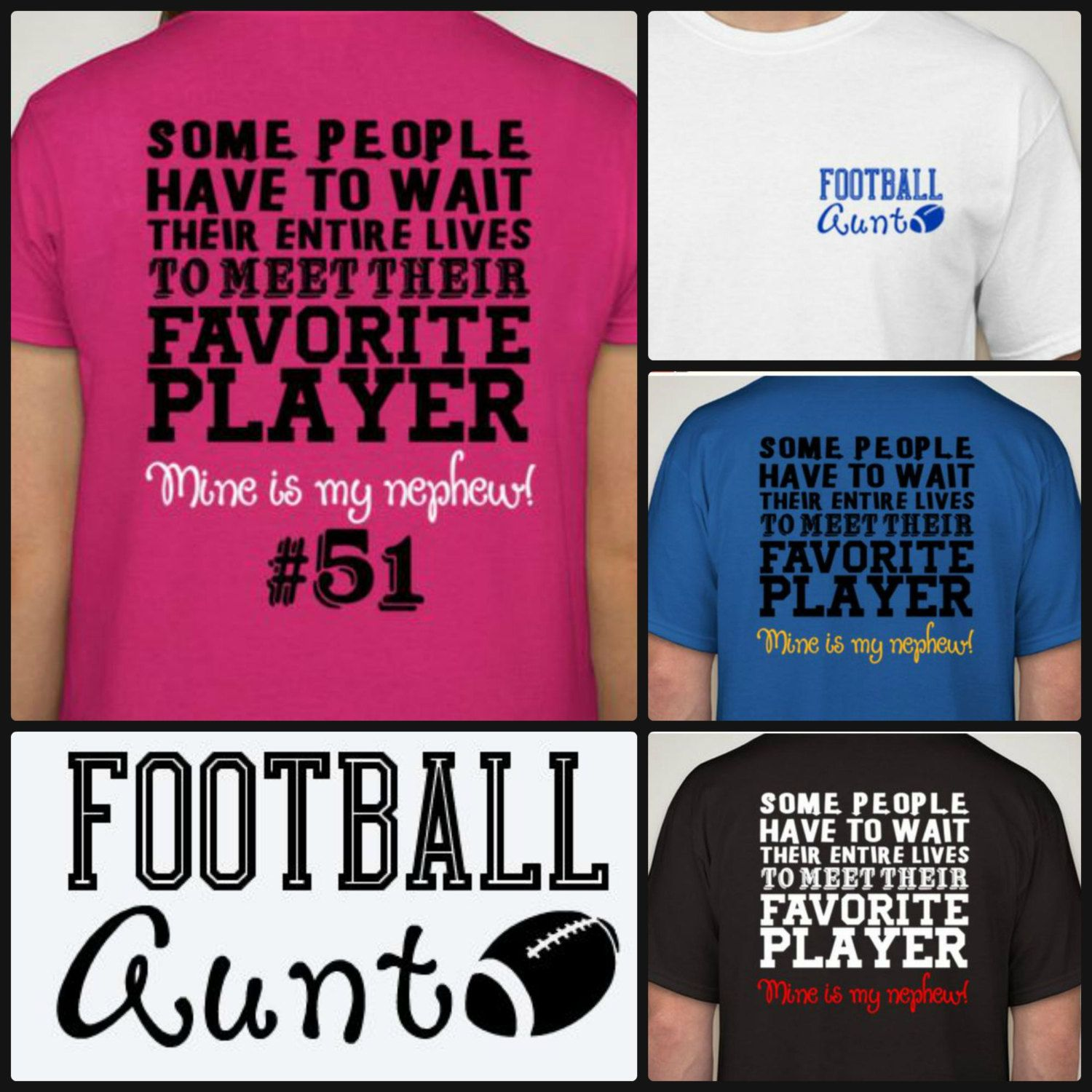 Design your own t-shirt for under $10 - New Hot Football Aunt T Shirt Proud Football Auntie Shirt Sports Fan Cheer Customize With Your Team Colors