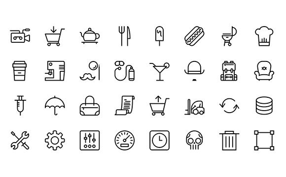 Streamline icon set SVG PNG | Graphic Freebies (PSD, AI
