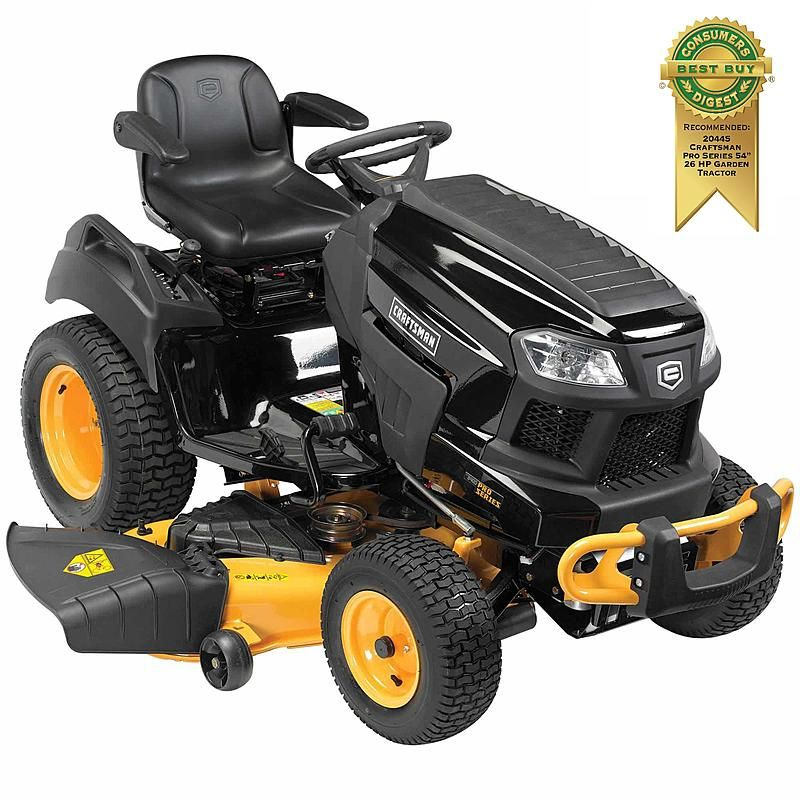 Craftsman Pro Series 20445 54 26 Hp V Twin Kohler Garden Tractor With Turn Tight Extreme Garden Tractor Lawn Tractor Tractors