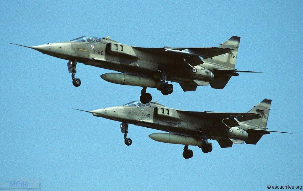 Le Jaguar dans l'Armée de l'Air - Escadrilles