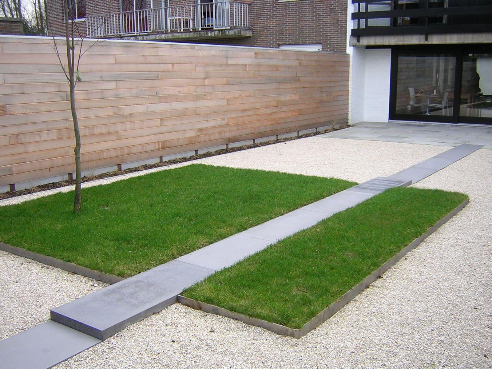 Minimalistische tuin strakke tuinarchitectuur minimalistische