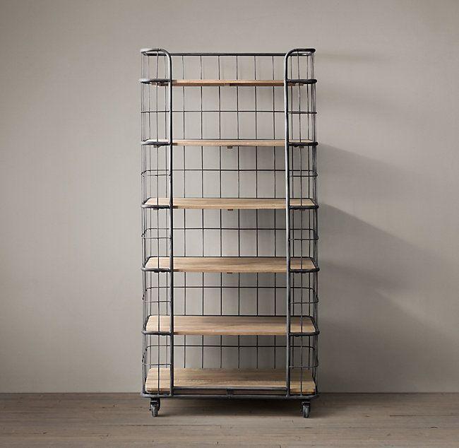 Circa 1900 Caged Baker S Rack Single Shelving Bakers Rack