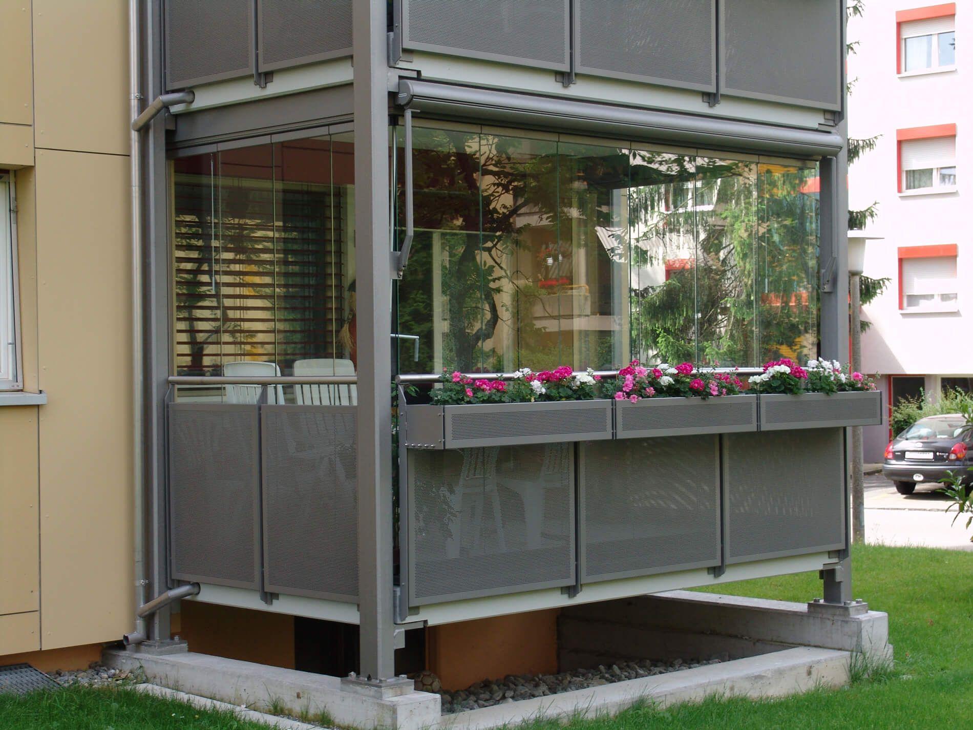 Schiebesystem Fur Balkon Glasschiebetur Terrassenverglasung Und