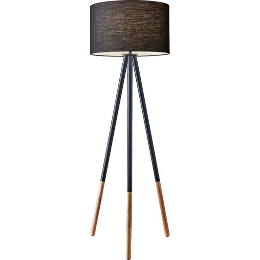 Adesso Louise 60 25 Quot Tripod Floor Lamp Allmodern Tripod Floor Lamps Long Floor Lamp Black