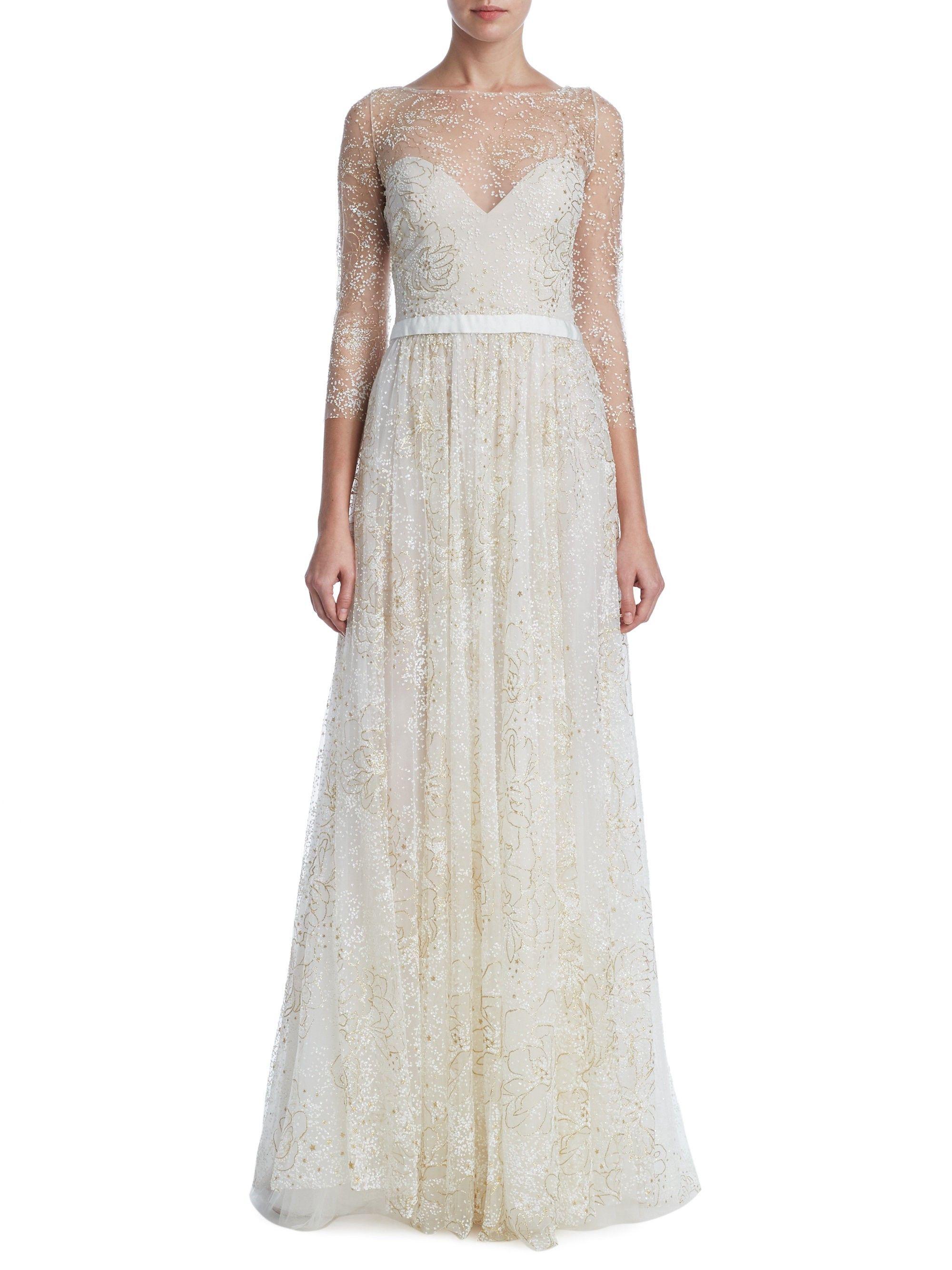 f09aa95d2be Glitter Tulle Floor-Length Gown by MARCHESA NOTTE   Fancy Dress ...