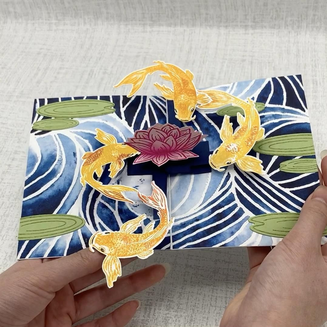 Photo of Hero Arts Color Layering Koi * Karen Burniston Photo Collage die * made by SoKnitpicky