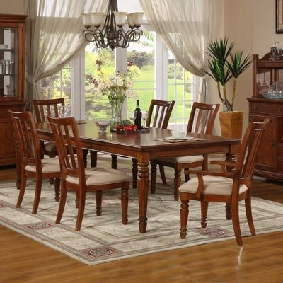 Kathy Ireland Home By Vaughan Pennsylvania Country Leg Table In