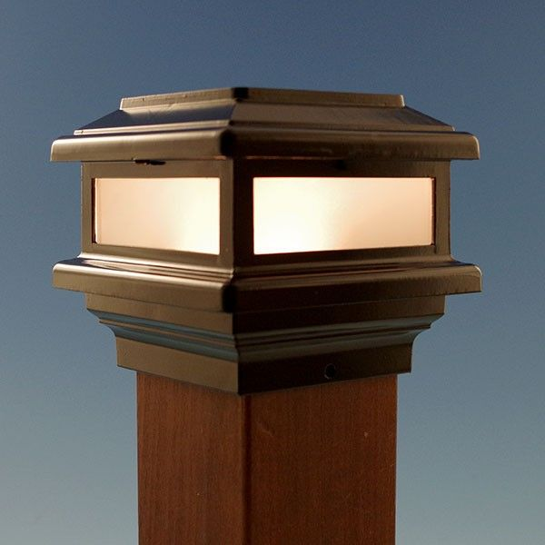 Triton led post cap light by aurora deck lighting mozeypictures Image collections