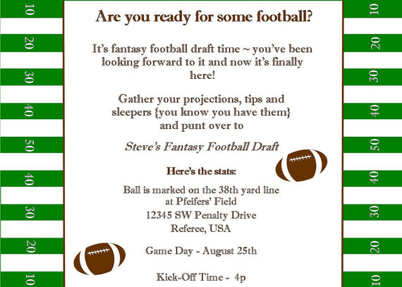 Fantasy Football Party Invitations By BellaGrey Designs As Seen On Living Locurto Styled A To Zebra Celebrations