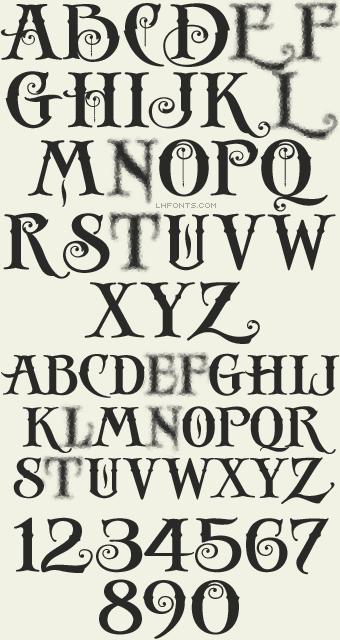 Letterhead Fonts Lhf Antique Shop Decorative Fonts Typography Alphabet Lettering Alphabet Lettering