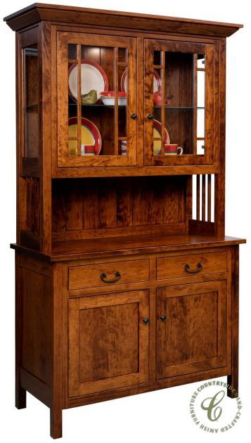 Bring The Comfort Of Country Style Furniture To Your Dining Room Along With A Hint Modern Elegance This American Made Kenova China Hutch