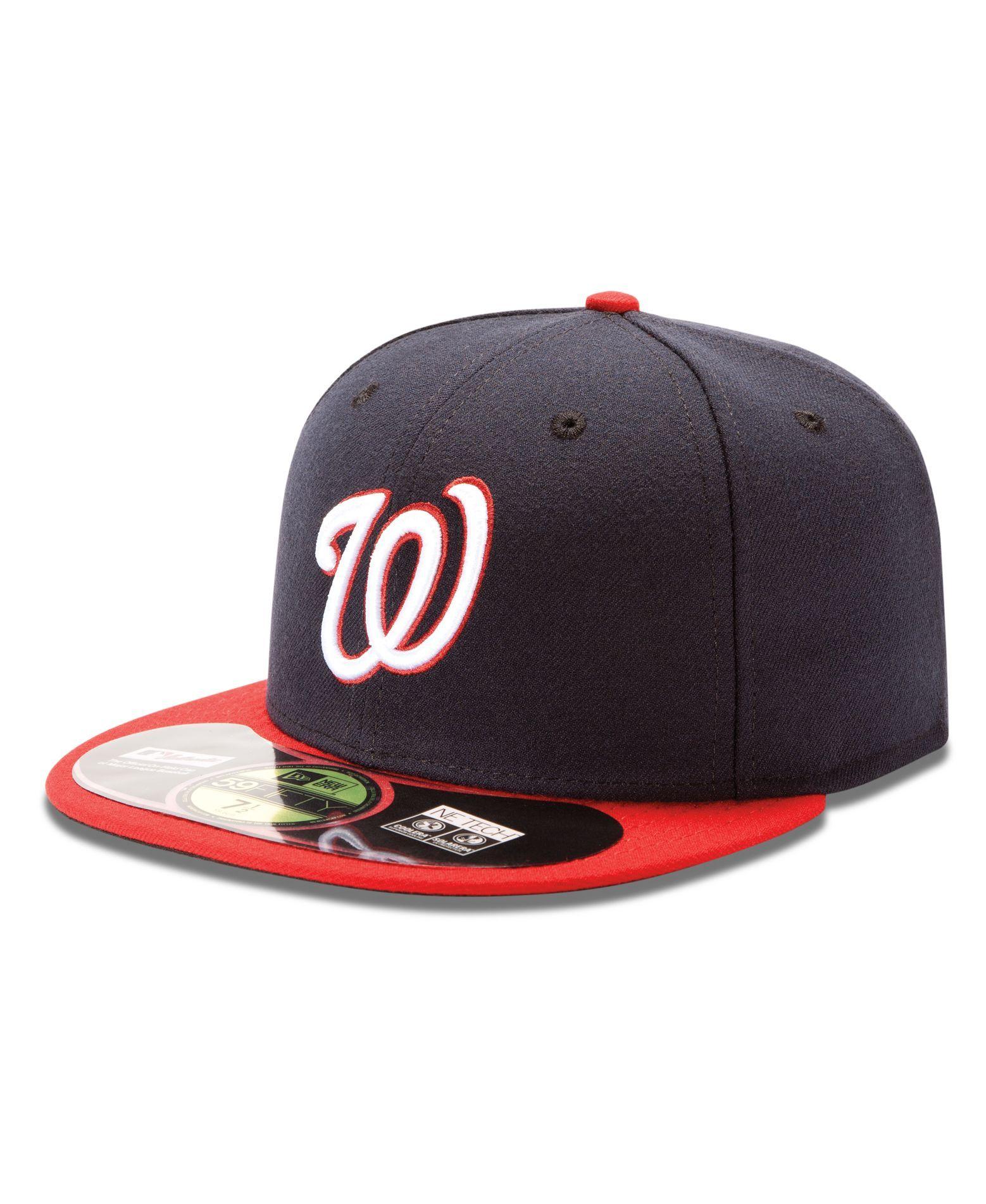 uk availability db05e 949b2 New Era Mlb Hat, Washington Nationals On Field 59FIFTY Cap