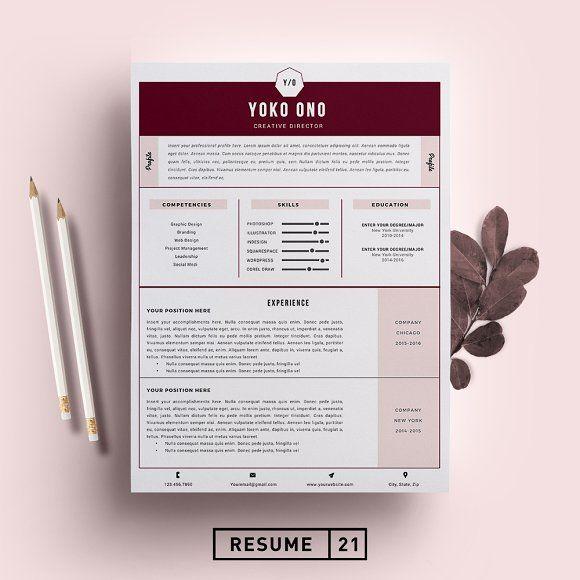 creative director resume template  cv by resume21 on  crea