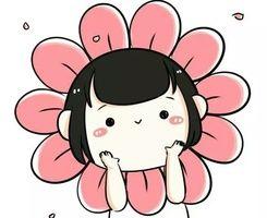 假装自己是一朵小花朵的萌系漫画人物头像图片
