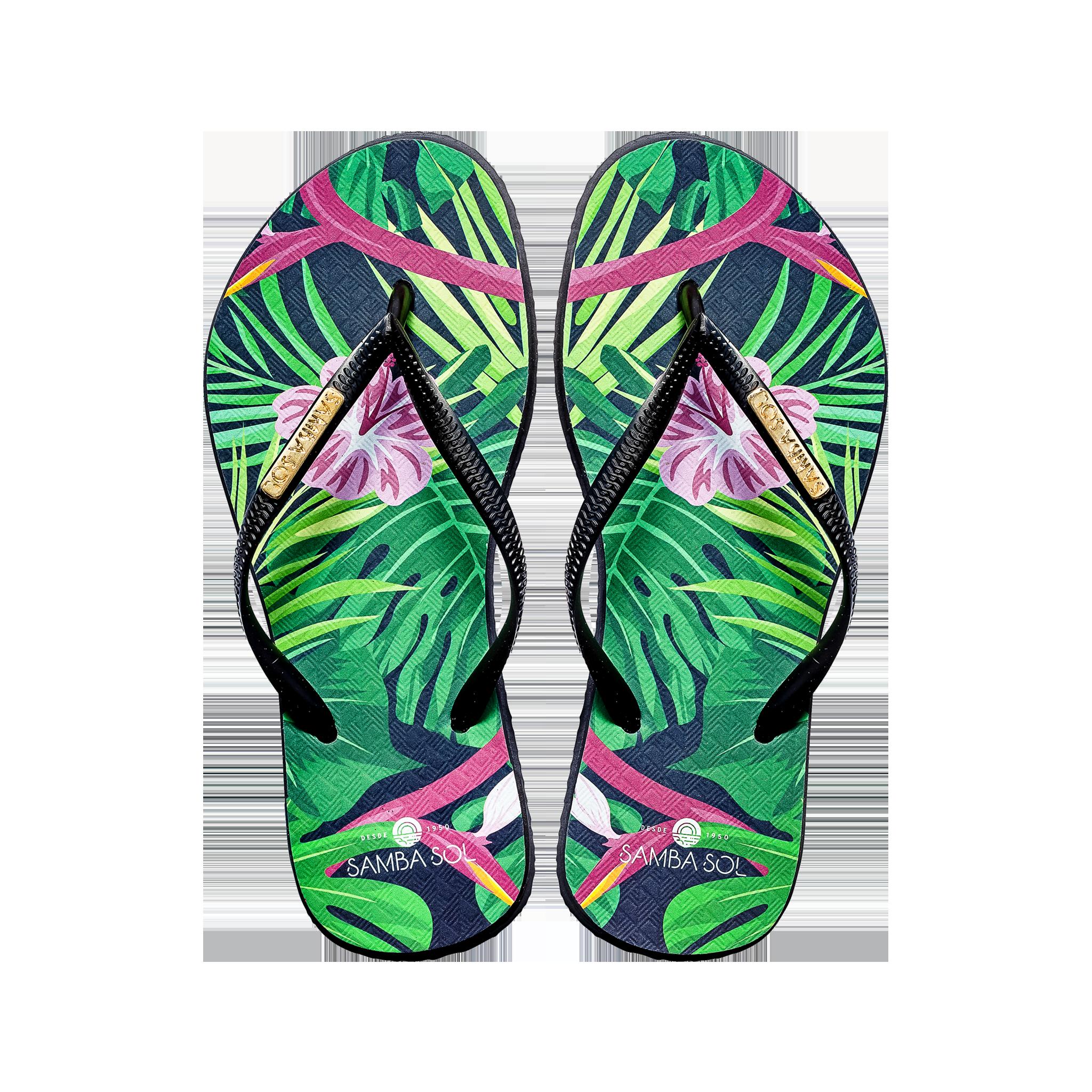 Pink Samba Sol Women's Beach Collection Flip Flops