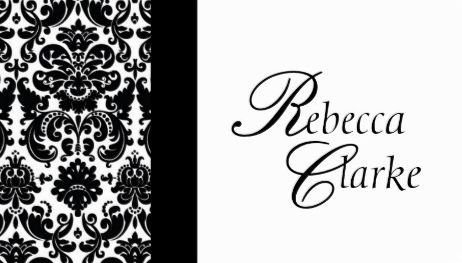 Elegant monogrammed name black and white damask business cards http elegant monogrammed name black and white damask business cards reheart Choice Image