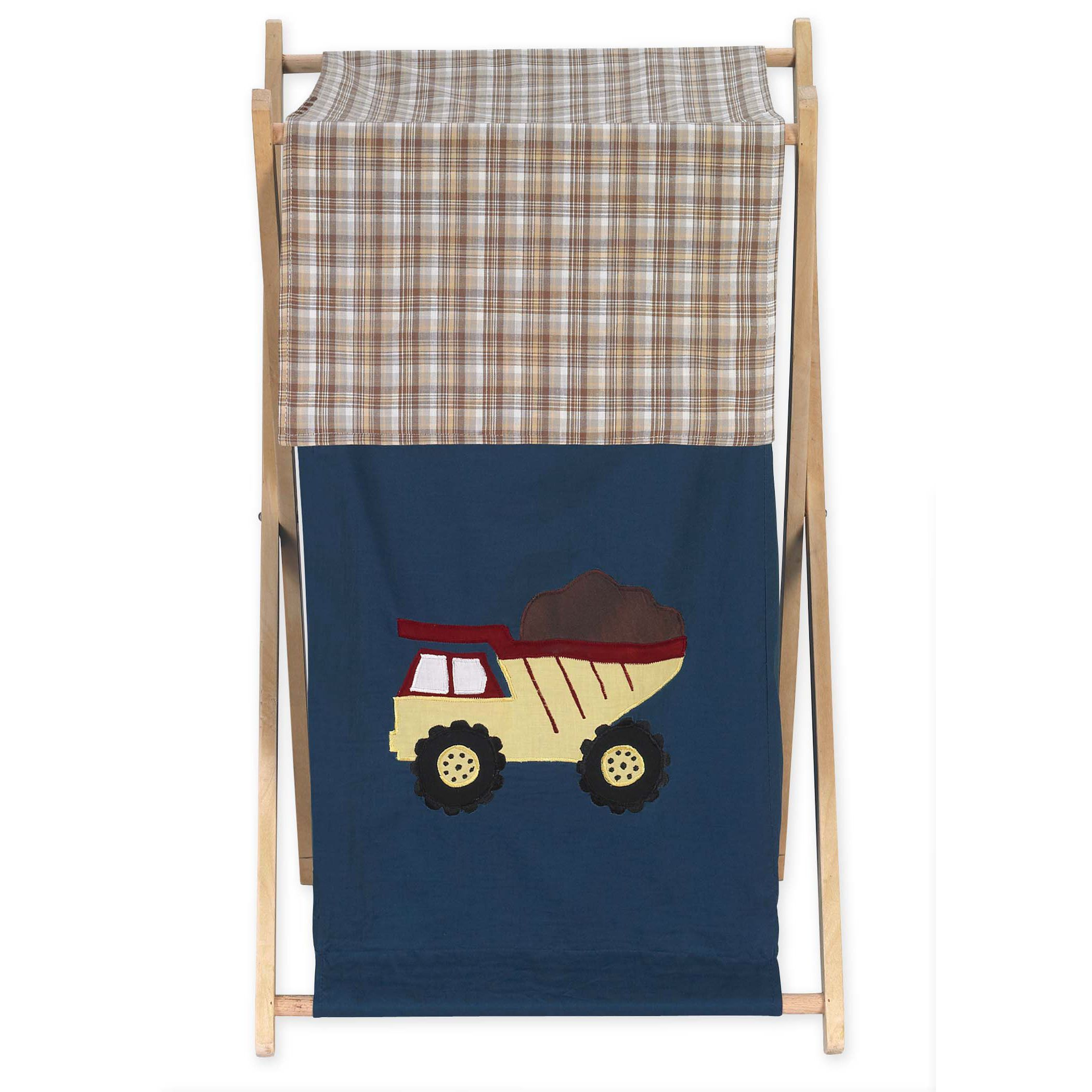 Sweet Jojo Designs Construction Zone Collection Multicolored /Wood Laundry Hamper