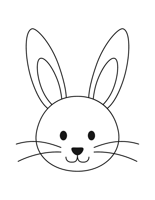 How To Draw Lean Step Rabbit Face Drawing For Beginners Bunny Coloring Pages Bunny Drawing Easter Drawings