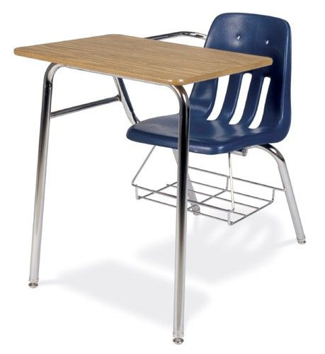 Virco 9000 Series Soft Plastic Student Chair Desk Combo With