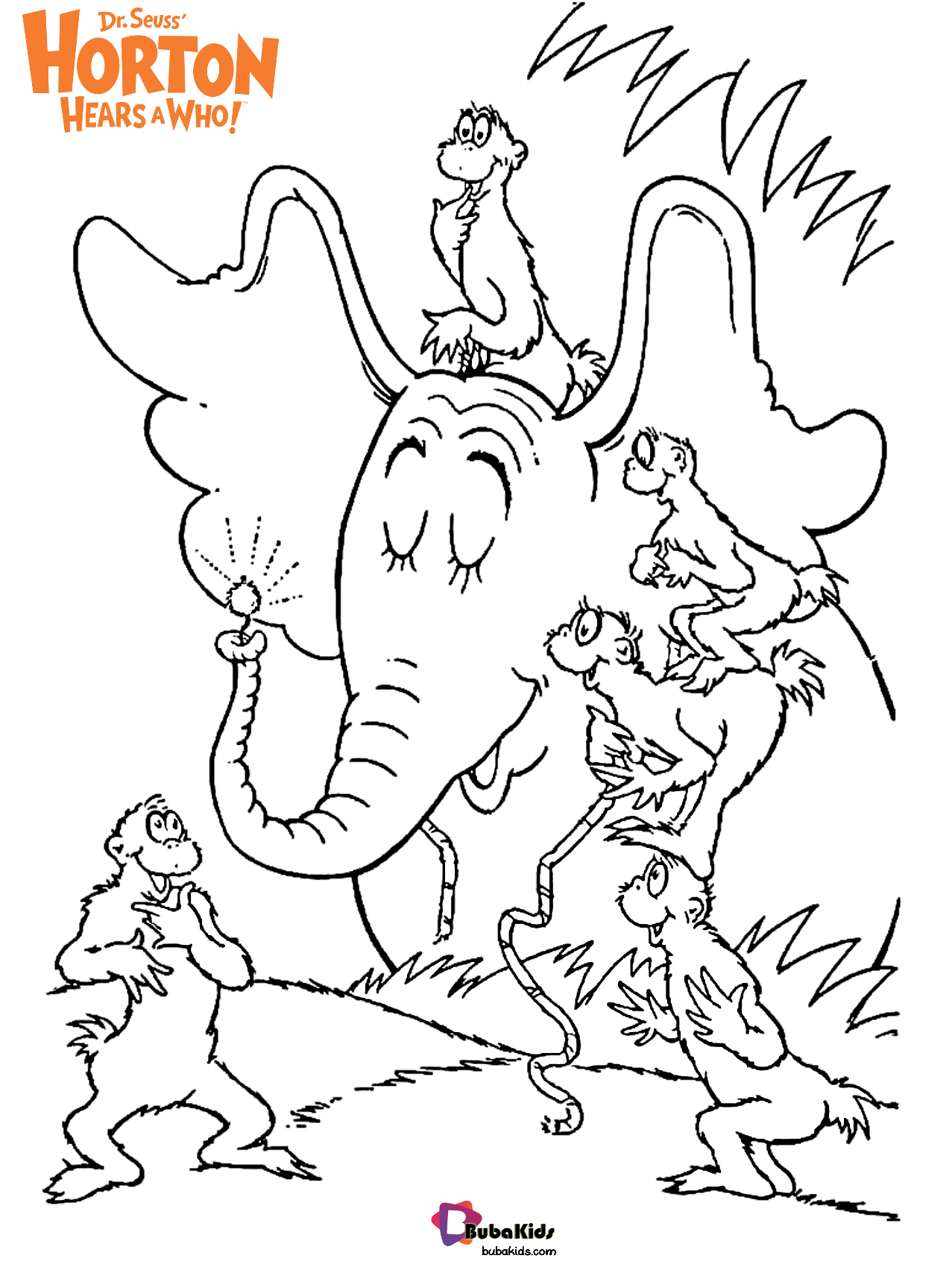Dr Seuss Horton Hears A Who Free Download Coloring Page In
