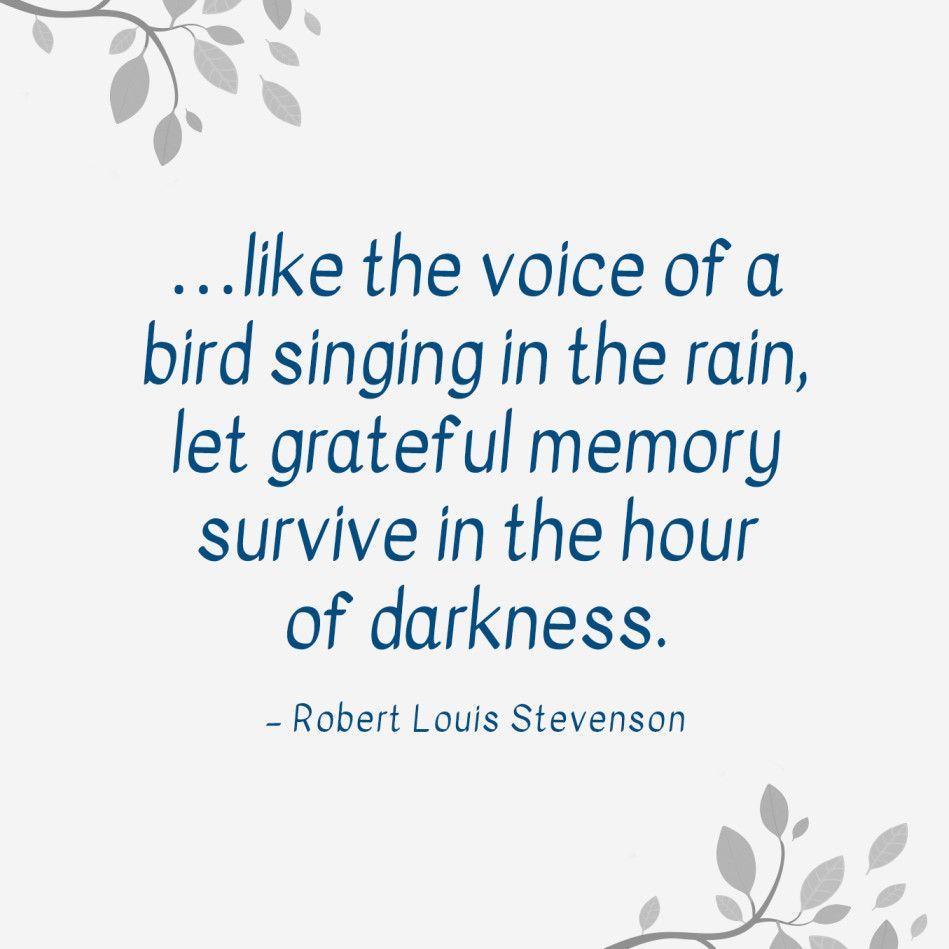 Image result for robert louis stevenson bird singing in the rain