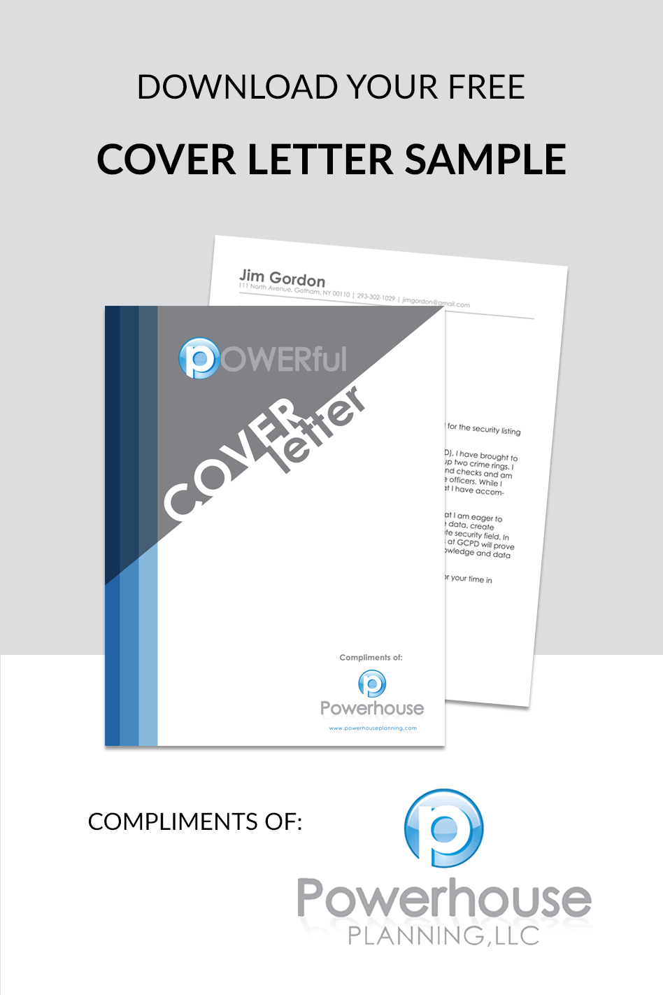 Download Your Free Cover Letter Sample Compliments Of Powerhouse