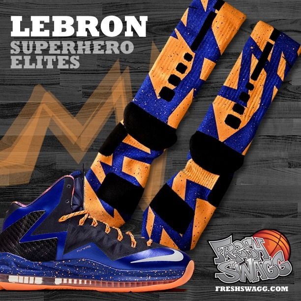 half off ce1f6 bf22f Image of Lebron Superhero Nike Elite Socks