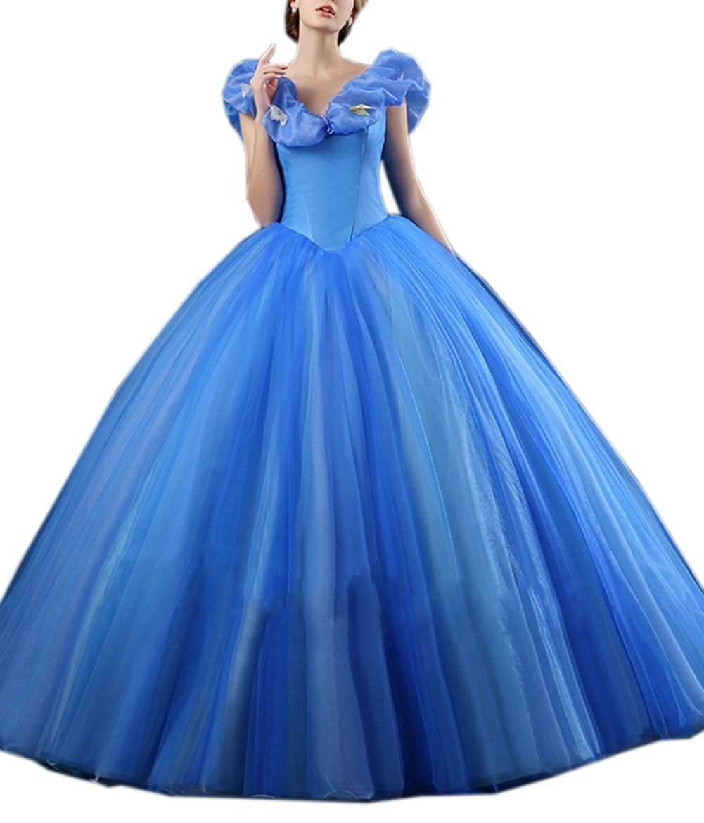 Beautyfudre womenus prom gowns organza cinderella cosplay princess