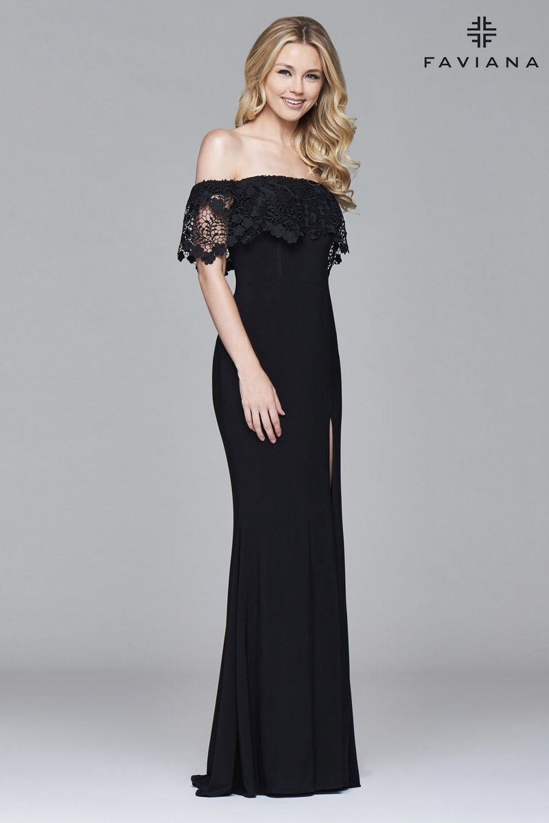 Faviana s flower pinterest flared skirt lace overlay and