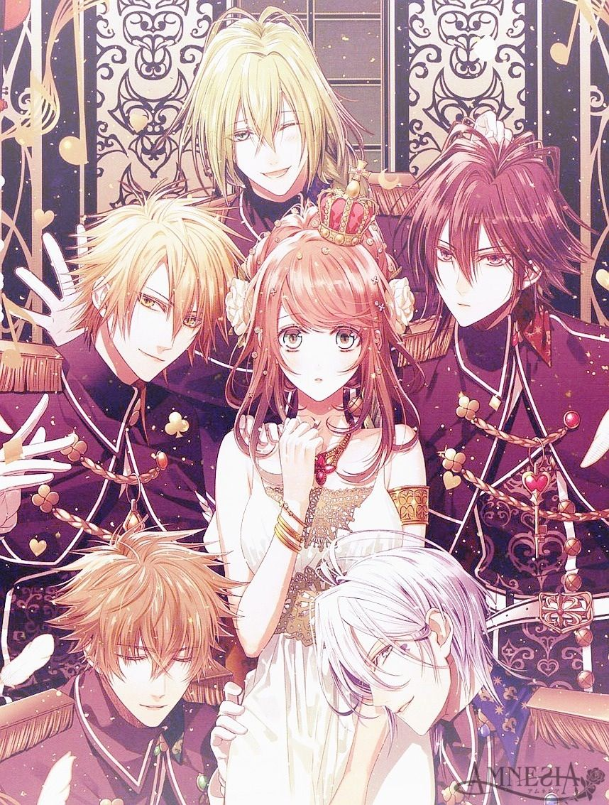 Amnesia Girlfriend All Of Them Are Great But You Know The One Behind You Is The One Heroine And Ukyo Forever Amnesia Anime Anime Anime Harem