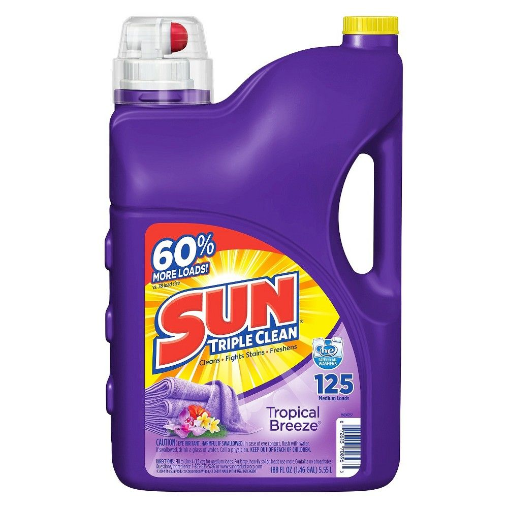 Sun Tropical Breeze Scent Liquid Laundry Detergent 188 Oz In 2020